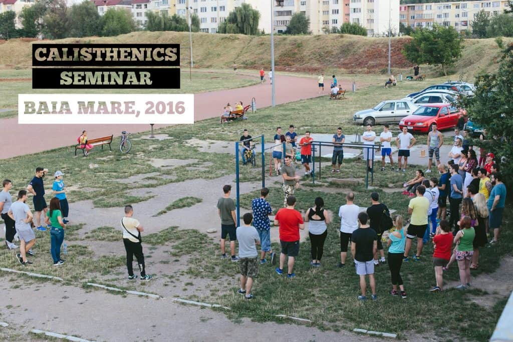 calisthenics workshop seminar in Romania