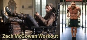 zach mcgowan workout in blacksails as captain charles vain