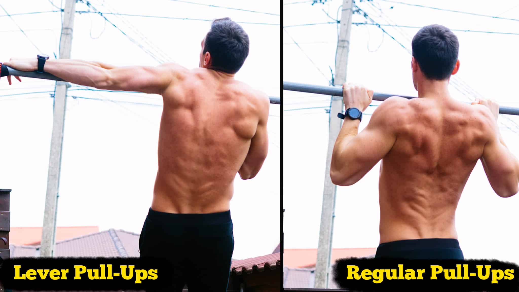 lever pullups and regular pullups