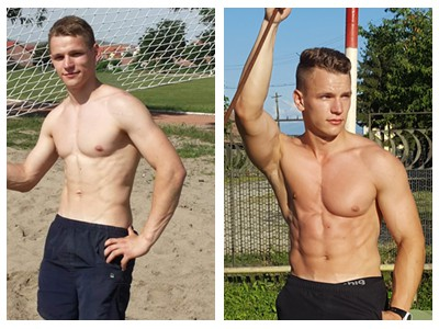 calisthenics transformation with Horia Ontiu
