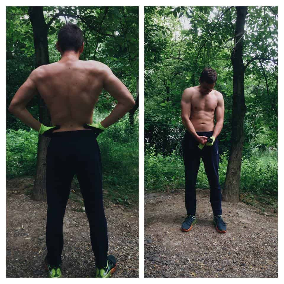 1 year calisthenics body transformation with Andrei Pop