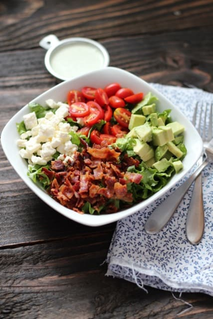chopped salad with rice